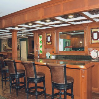 Built-In Pub Bar