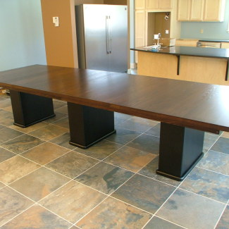 Triple Pedestal Dining Table