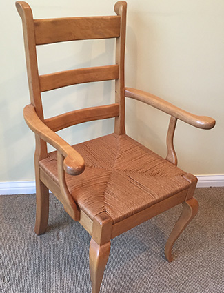 Country French Chair with Rush Seat
