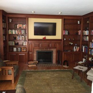 Built-In Bookcases w/ Fireplace Surround