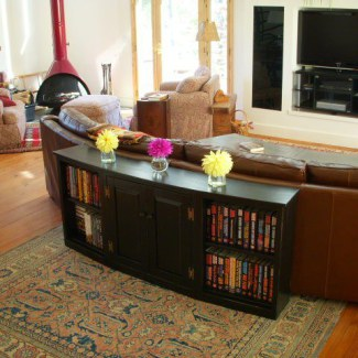 Curved Front Bookcase