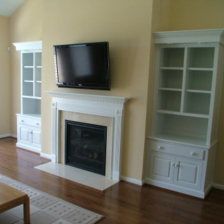 Bookcase w/ Base Cabinets