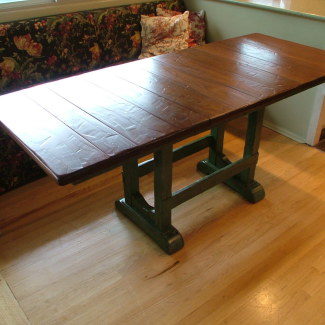 Trestle Kitchen Table
