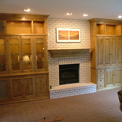 Fireplace Cabinets: Stigler's Woodworks