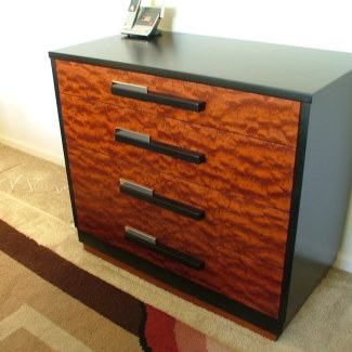 Built In Bubinga And Black Lacquer This Four Drawer Chest Is 40 Inches Wide By 22 Deep 36 High