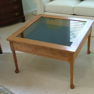 Square Glass Cocktail Table