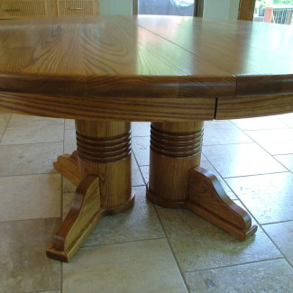 Round Double Pedestal Table