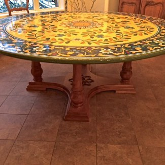Large Round Pedestal Table