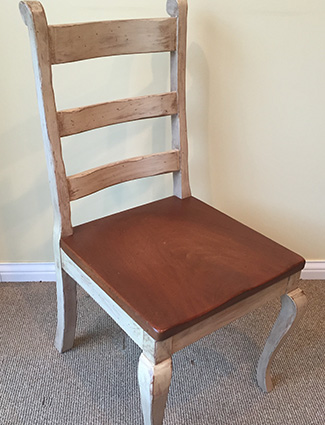 Country French Chair with Wood Seat