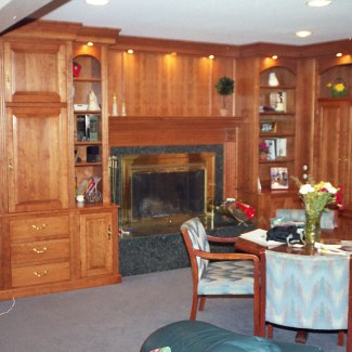 Built-In Family Room Cabinetry